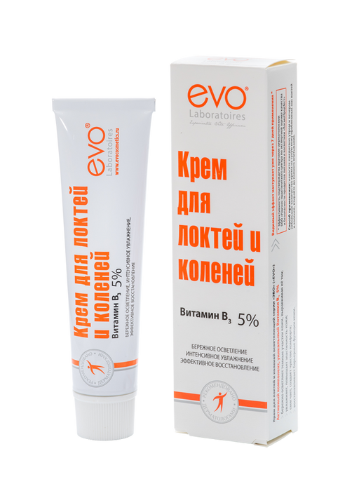 Evo Крем для локтей и коленей осветляющий, крем, 46 мл, 1шт.