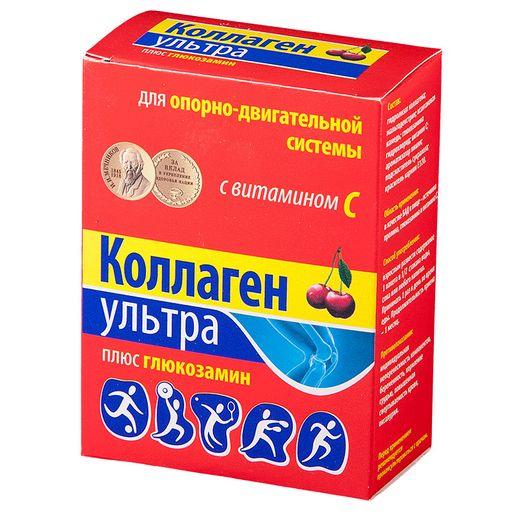 Коллаген Ультра плюс глюкозамин, порошок, со вкусом или ароматом вишни, 8 г, 7шт.