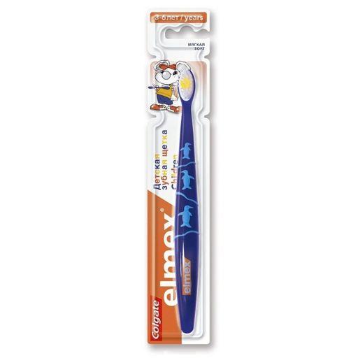 Элмекс Зубная щетка детская от 3 до 6 лет, щетка зубная, в ассортименте, 1шт.