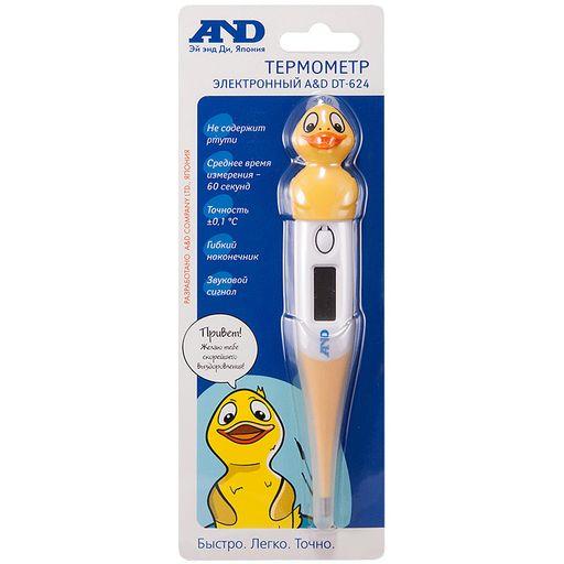Термометр электронный DT-624, держатель утка, 1шт.