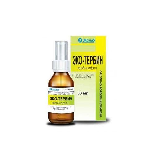 Эко-тербин, 1%, спрей для местного применения, 30 мл, 1шт.