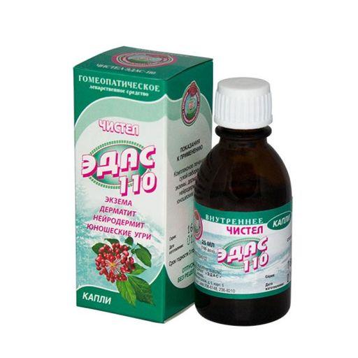 Эдас-110 Чистел, капли для приема внутрь гомеопатические, 25 мл, 1шт.