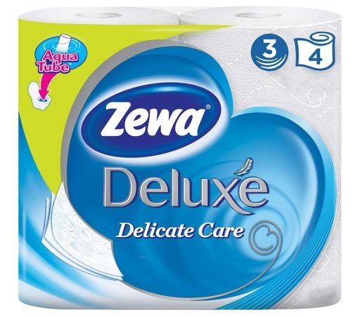 Zewa delux Туалетная бумага трехслойная белая, 4шт.