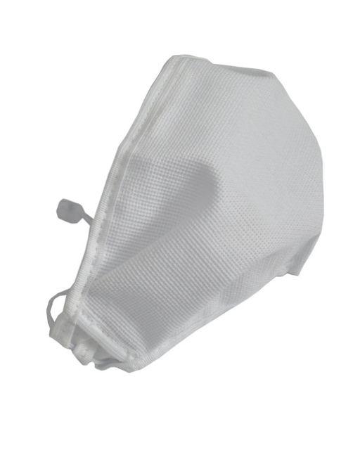 Маска медицинская многоразовая Эласма, с тесьмой-завязкой и фиксатором вокруг головы, из комбинированных материалов, белая, арт. С-901, 1шт.