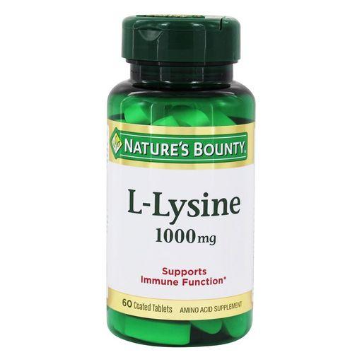 Natures Bounty L-лизин 1000 мг, 1000 мг, таблетки, 60шт.