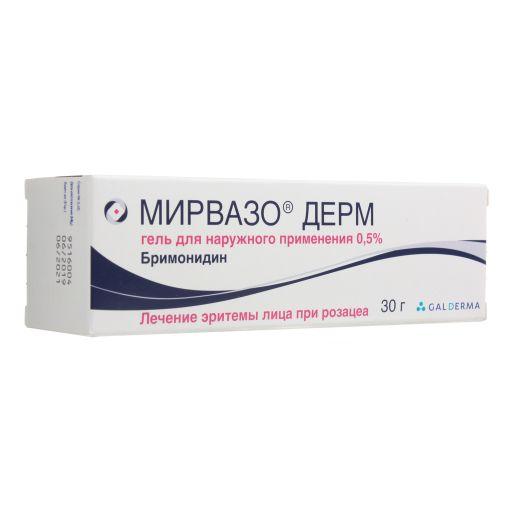 Мирвазо Дерм, 0.5%, гель для наружного применения, 30 г, 1шт.
