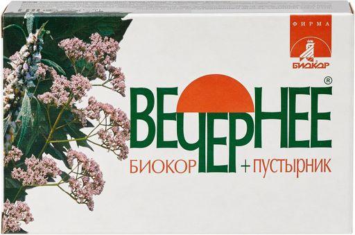 Вечернее+пустырник Биокор, драже, 120шт.