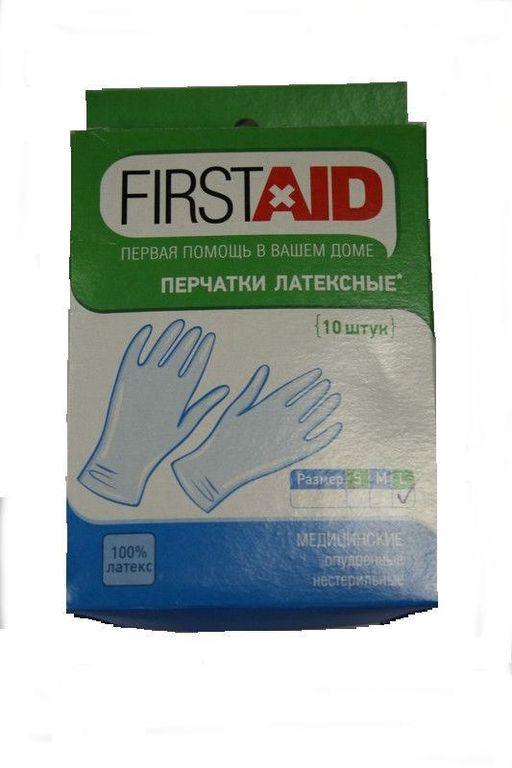 Ферстэйд перчатки смотровые нестерильные опудренные, L, 10шт.