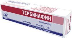 Тербинафин, 1%, крем для наружного применения, 15 г, 1шт.