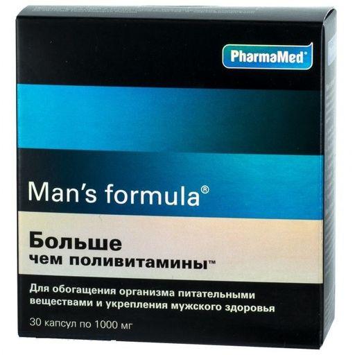 Man's formula Больше чем поливитамины, 1 г, капсулы, 30шт.