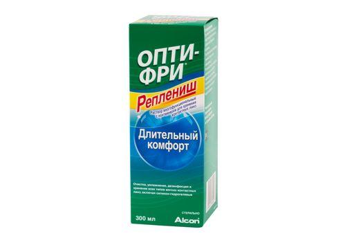 Опти-Фри Реплениш, раствор для обработки и хранения мягких контактных линз, 300 мл, 1шт.