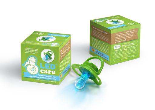 Led care Соска светодиодная антибактериальная, 1шт.