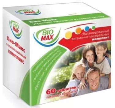 Био-Макс, таблетки, покрытые оболочкой, 60шт.