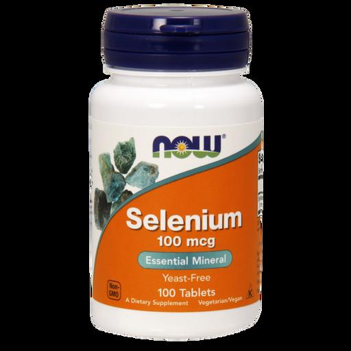 NOW Selenium Селен, 100 мг, таблетки, 100шт.