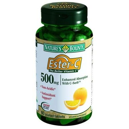 Natures Bounty Эстер-С 500 мг, 500 мг, таблетки, 60шт.