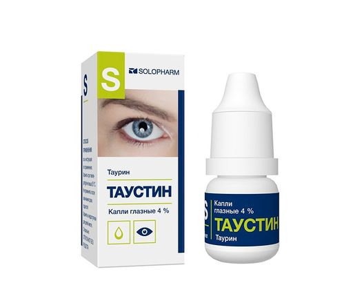 Таурин-СОЛОфарм, 4%, капли глазные, 10 мл, 1шт.