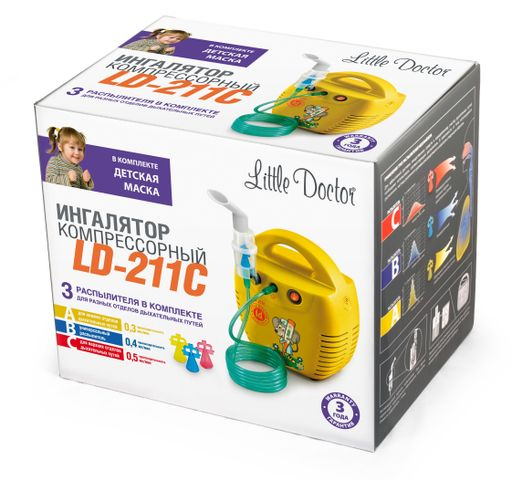 Ингалятор компрессорный Little Doctor LD-211С, LD-211C, в ассортименте, 1 шт.
