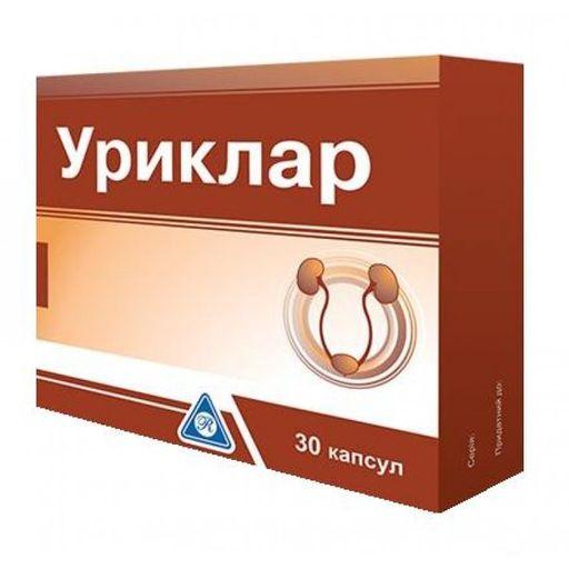 Уриклар, 430 мг, капсулы, 30шт.