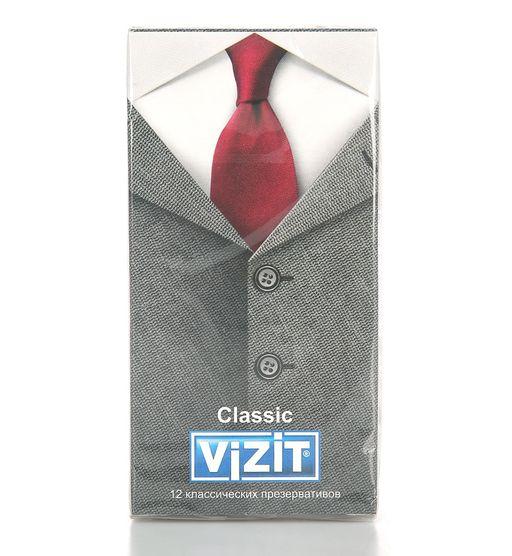 Презервативы Vizit Classic, презерватив, гладкие, 12шт.