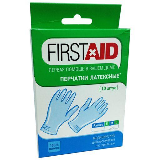 Ферстэйд перчатки смотровые нестерильные опудренные, размер M, 10шт.