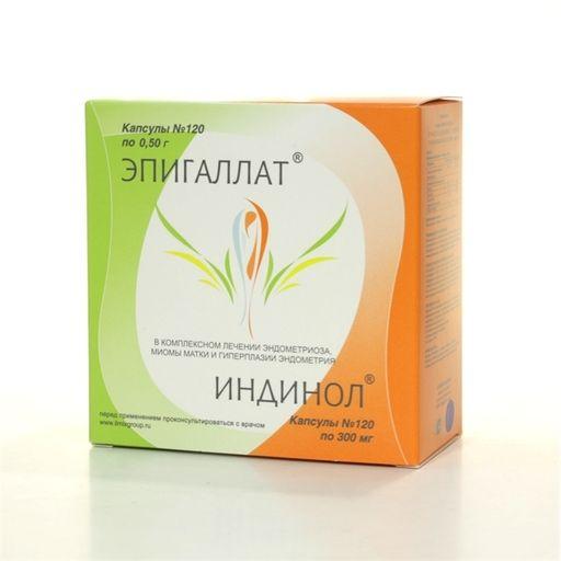 Эпигаллат+Индинол, 500 мг+300 мг, капсулы, 240шт.