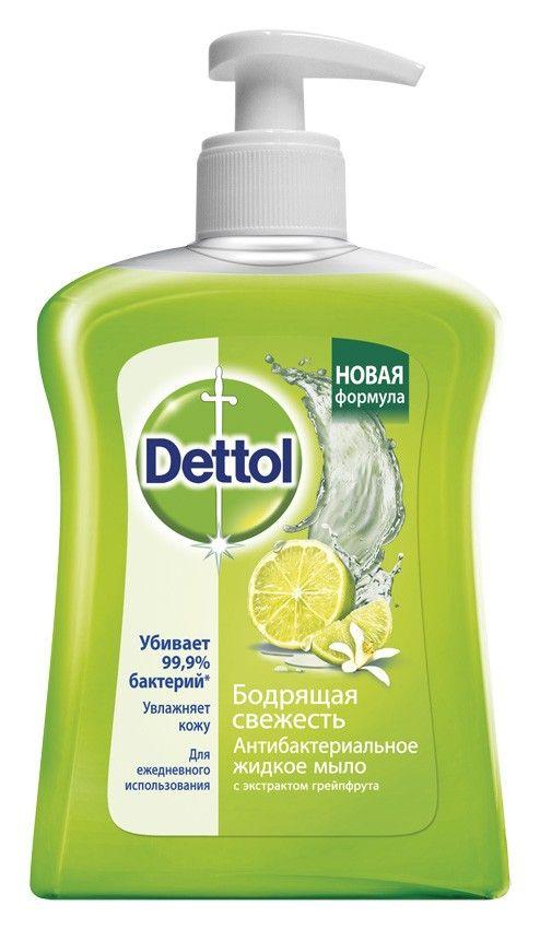 Dettol Мыло жидкое для рук Антибактериальное грейпфрут, мыло жидкое, 250 мл, 1шт.