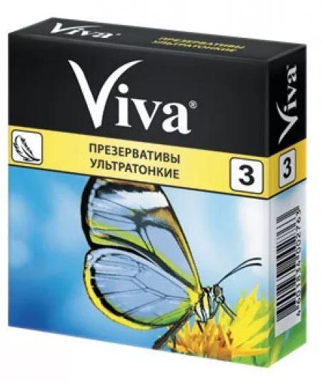 Презервативы Viva, презерватив, ультратонкие, 3шт.