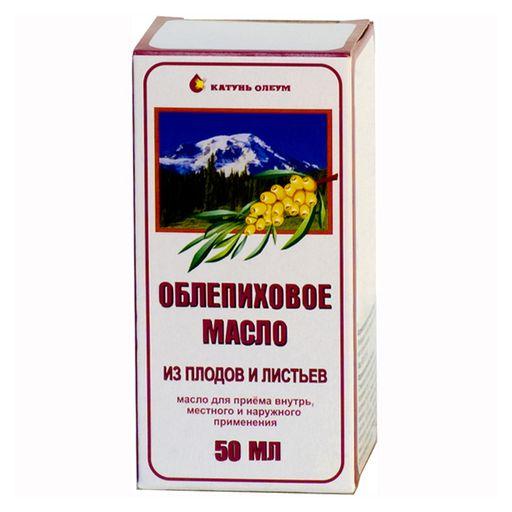 Облепиховое масло из плодов и листьев, масло для приема внутрь и местного применения, 50 мл, 1шт.