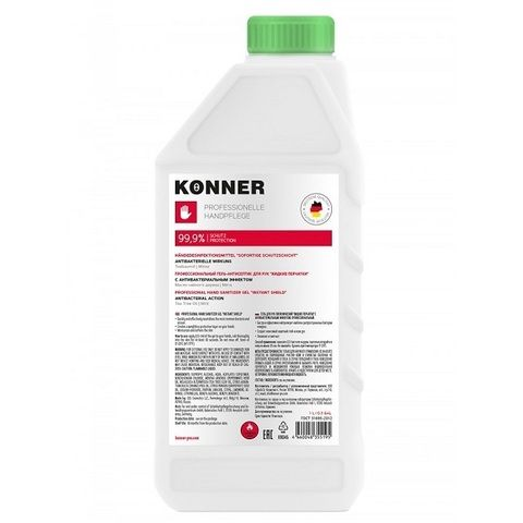 Konner гель для рук гигиенический Жидкие перчатки, с антибактериальным эффектом, 1 л, 1шт.
