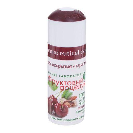 Фруктовый поцелуй Помада губная гигиеническая, помада, вишня, 3,5 г, 1шт.