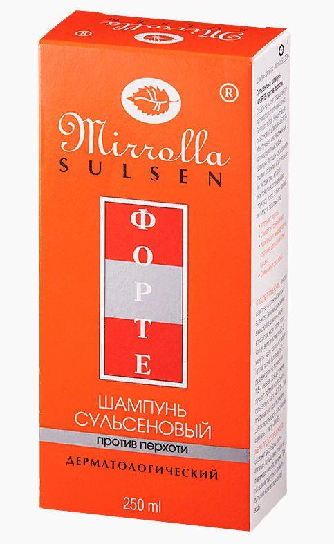 Mirolla Сульсен Форте Шампунь сульсеновый против перхоти, 2%, шампунь, 250 мл, 1шт.