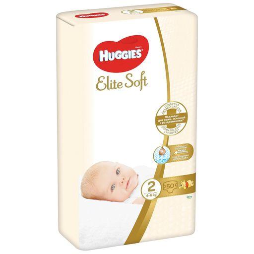 Huggies Elite Soft Подгузники детские, р. 2, 4-6 кг, 50шт.