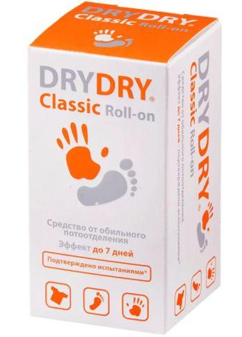 Dry Dry Classic Roll-on средство от обильного потовыделения, део-ролик, 35 мл, 1шт.