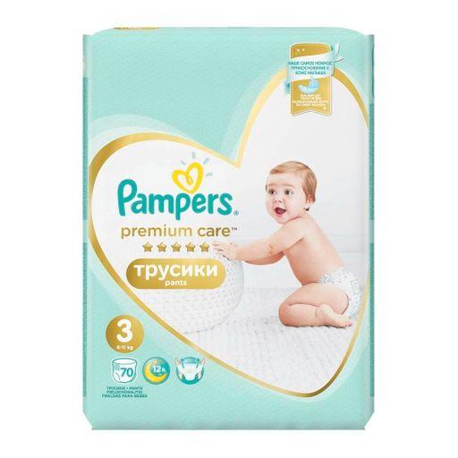 Pampers Premium Care pants Подгузники-трусики детские, р. 3, 6-11 кг, 70шт.