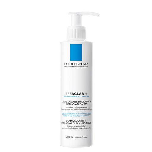 La Roche-Posay Effaclar H очищающий крем-гель для пересушенной кожи, гель для умывания, 200 мл, 1шт.