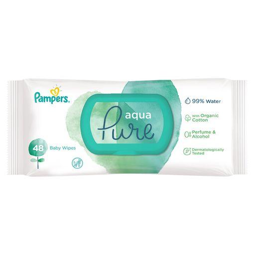 Pampers Aqua Pure Салфетки важные детские, 48шт.