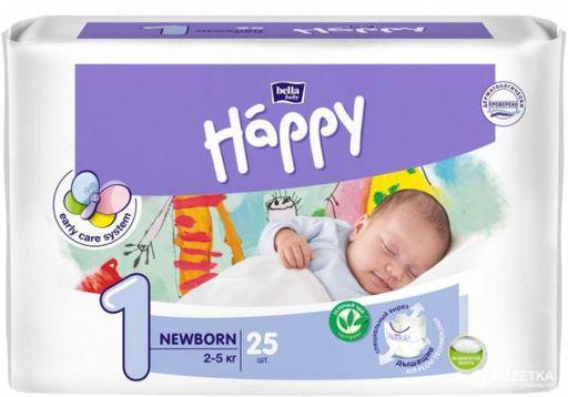 Bella Baby Happy Newborn Подгузники детские, р. 1, 2-5кг, 25шт.