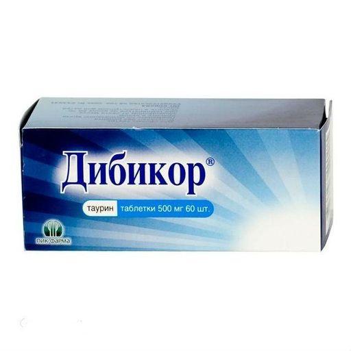 Дибикор, 500 мг, таблетки, 60шт.