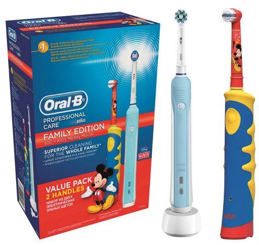 Набор Oral-B Family Pack Professional Care + Oral-B KIDS Mickey, набор, 2шт.