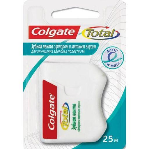 Colgate Total Зубная нить-лента со фтором и мятой, 25 м, 1шт.