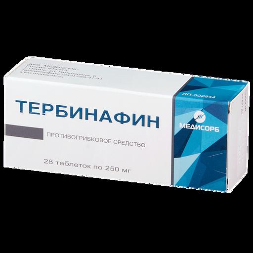 Тербинафин, 250 мг, таблетки, 28шт.