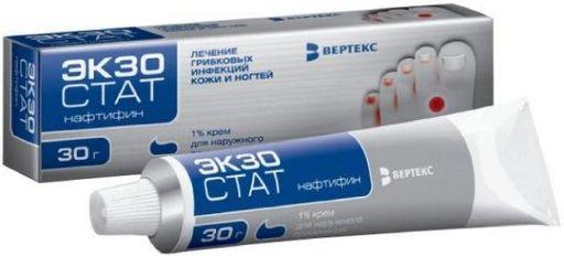 Экзостат, 1%, крем для наружного применения, 30 г, 1шт.