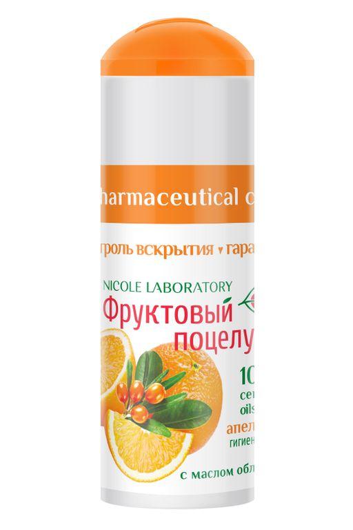 Фруктовый поцелуй Помада губная гигиеническая, помада, апельсин, 3.5 г, 1шт.