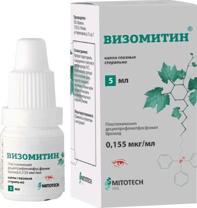 Визомитин, 0.155 мкг/мл, капли глазные, 5 мл, 1шт.