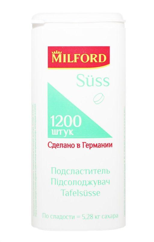 Milford suss Подсластитель, таблетки, 1200шт.
