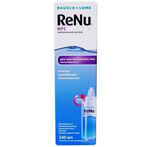 ReNu MPS для чувствительных глаз, раствор для обработки и хранения мягких контактных линз, 240 мл, 1шт.