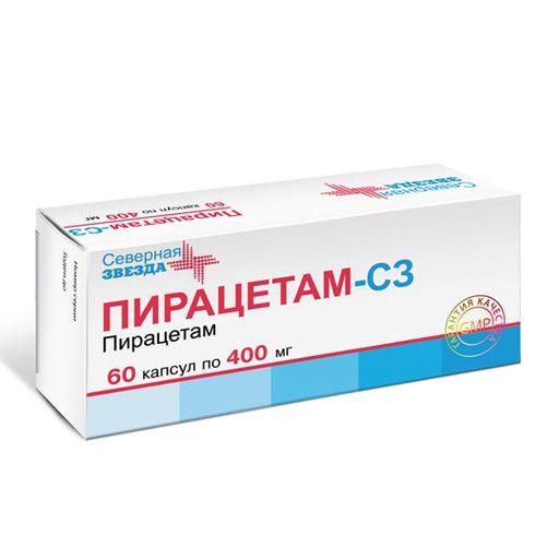 Пирацетам-СЗ, 400 мг, капсулы, 60шт.