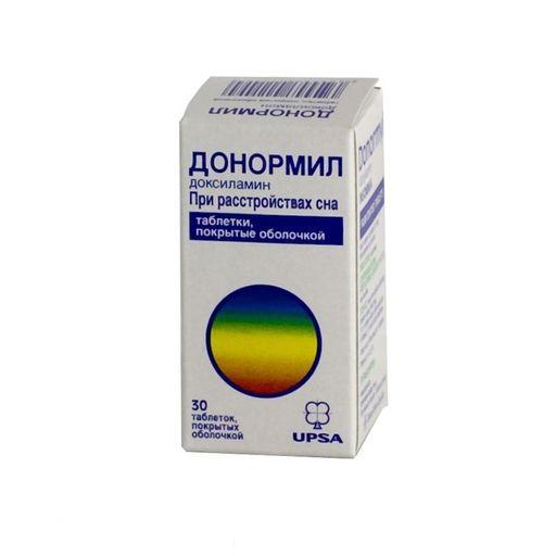 Донормил, 15 мг, таблетки, покрытые пленочной оболочкой, 30шт.