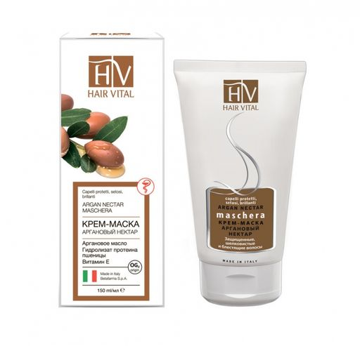 Hair Vital Крем-маска для волос Аргановый нектар, маска для волос, 150 мл, 1шт.