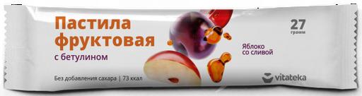Витатека Пастила фруктовая Яблоко со сливой, 27 г, 1шт.